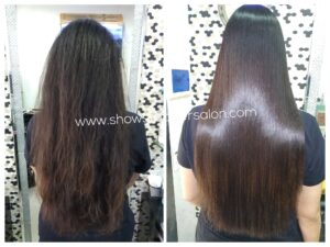 Hair-Straightener-used-for-keratin-treatment-hair-smoothening-keratin-hair-treatment-keratin-hair-color-highlights-ShowStopper-Salon-Mira-Road